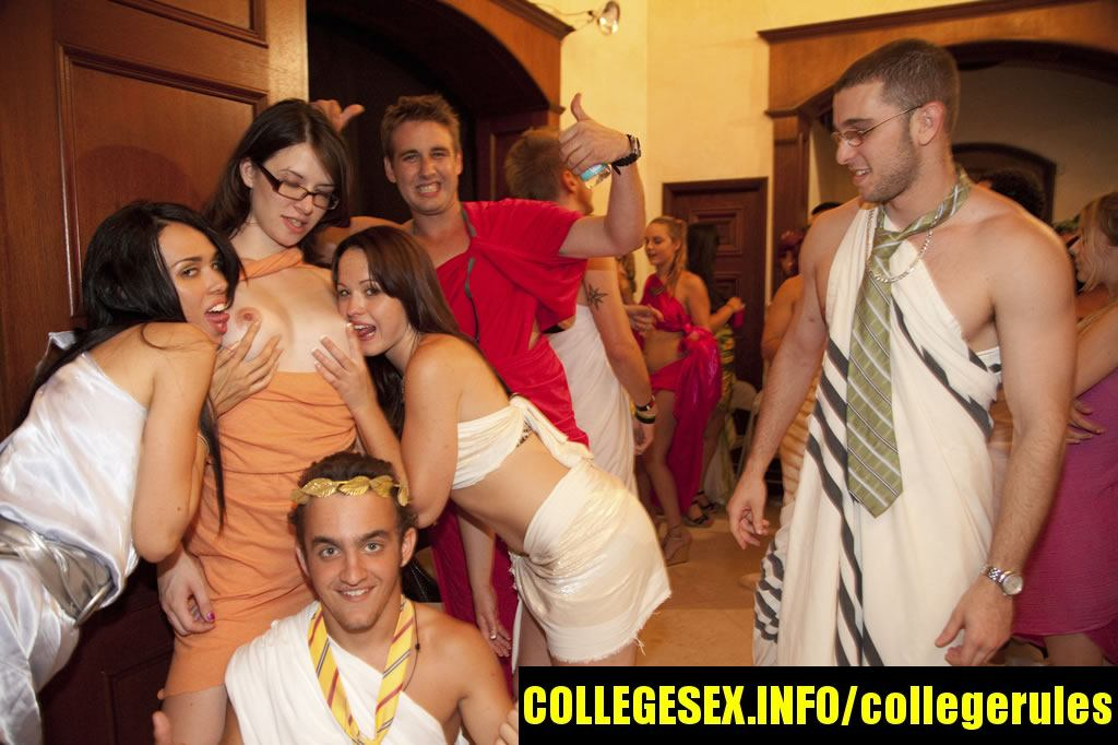 College Rules presents: Toga orgy! -4. best college porn from College Rules !